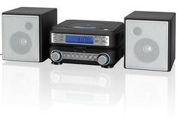 Compact Bookshelf Stereo System AM FM Radio CD MP3 Shelf Spe