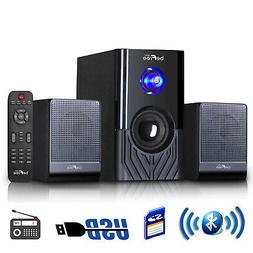 Compact Home Stereo System beFree Sound 2.1 Channel Bluetoot