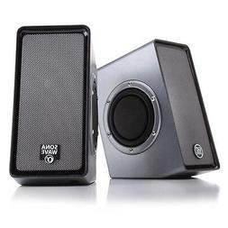 Computer Stereo Speaker System with Dual Passive Subwoofers