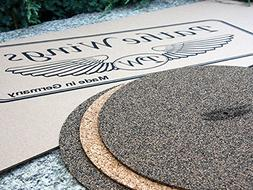 PatheWings Cork & Natural Black Rubber Turntable Record Mat