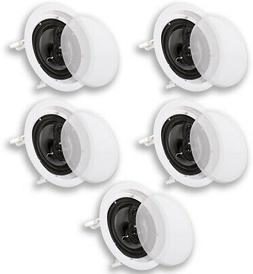 Acoustic Audio CS-IC83 In Ceiling 8 Home Theater 5 Speaker S
