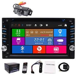 In-Dash Double 2 DIN Car Autoradio Stereo Headunit CD DVD Pl