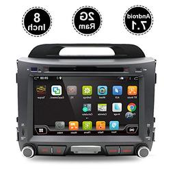 In-Dash GPS Navigation Car Stereo 2 Din FM AM Radio bt With