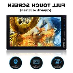 Double Din Full Touch Screen Bluetooth Car Stereo with Mirro