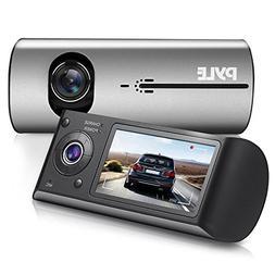 Pyle PLDVRCAMG37.5 DVR Dash Cam System - Dual Camera Car Vid