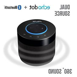 Echo Dot Speaker w/Bluetooth, 360 Degree Sound and Built-In