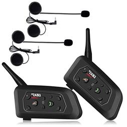 EJEAS 2 Pack V6Pro 1200m Motorcycle Bluetooth Communication