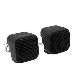 uxcell 2 Pcs Foldable Mini Car Audio Tweeter Speakers Black