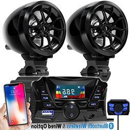 "GoldenHawk 3"" Motorcycle Weatherproof Bluetooth Wireless Spe"