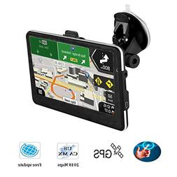 "Updated Car GPS,7.1"" GPS Navigator with Lifetime-free Maps,8"