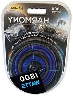 Harmony Audio HA-AK4 Car Stereo Complete 4 Gauge 1800W Amp A
