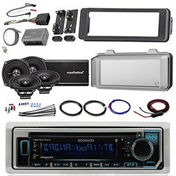 Harley Audio Package Of Kenwood KMR-D365BT Bluetooth CD MP3