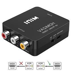 HDMI to RCA, HDMI to AV, Vilcome 1080P HDMI to 3RCA CVBS AV