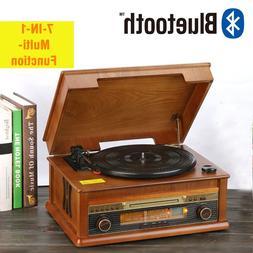 HiFi Record Player Retro Vinyl <font><b>Turntable</b></font>