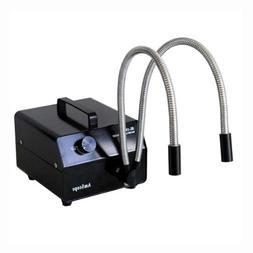 AmScope 150w Dual Gooseneck Fiber Optic Microscope Illuminat