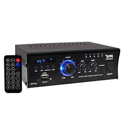 Home Audio Power Amplifier System - 2x75W Dual Channel Theat