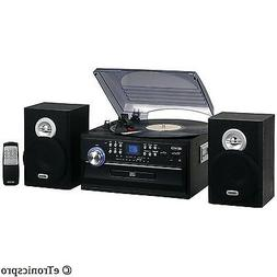 HOME STEREO JENSEN CD/CASSETTE/RECORD PLAYER TURNTABLE SYSTE