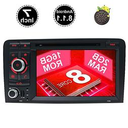 "7"" INCH HD Car Radio Touch Screen GPS Android 8.1 in Dash Na"