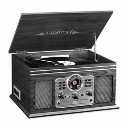 Innovative Technology ITVS-200B-GRY Victrola 6 In 1 Bluetoot