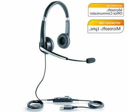 Jabra Voice 550 Duo MS Stereo Corded Headset Noise Reduction