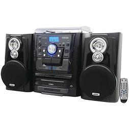 JENSEN JMC-1250 Bluetooth 3-Speed Stereo Turntable Music Sys