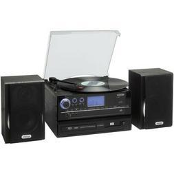 JENSEN JTA-990 3-Speed Stereo Turntable CD Recording System