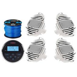"""Jensen Stereo w/ Bluetooth & USB Inputs, 4 x 6.5"""" Marine Spe"""