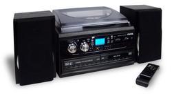 JENSEN JTA-980 3-SPEED TURNTABLE 2-CD SYSTEM WITH CASSETTE &