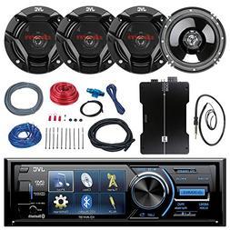 "JVC KD-AV41BT 3"" Car DVD Bluetooth Stereo Receiver Bundle Co"