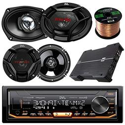 JVC KD-X330BTS AM/FM USB AUX Car Stereo Receiver Bundle Comb
