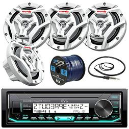 "JVC KDX33MBS Marine Receiver, 4x 300-W 6.5"" Speaker, Radio A"