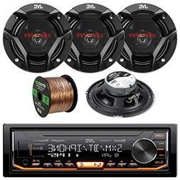 "JVC KD-X330BTS USB AUX Car Stereo, 4x 6.5"" Inch 300W Coaxial"