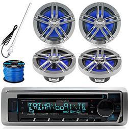 Kenwood KMR D365BT Marine Boat Outdoor Bluetooth CD MP3 USB