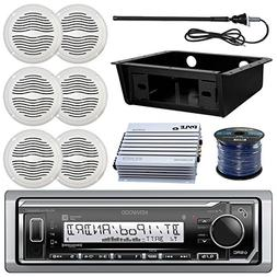 Kenwood KMR-M315BT MP3 Bluetooth Stereo Receiver Bundle Comb