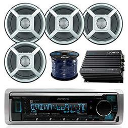 "Kenwood KMRM318BT Bluetooth Boat Stereo, 4x Jensen 6.5"" Spea"