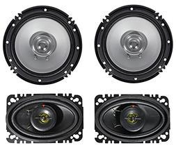"Kenwood KFC-C1656S 6.5"" 600 Watt Car Audio Speakers+ 4x6"" S"