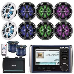 Kicker KMC10 Marine Boat Yacht All In One Bluetooth Stereo R