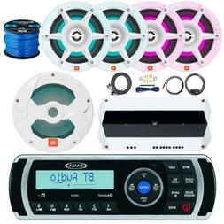 Kenwood KMR-D765BT Marine Stereo Bundle With Remote Control