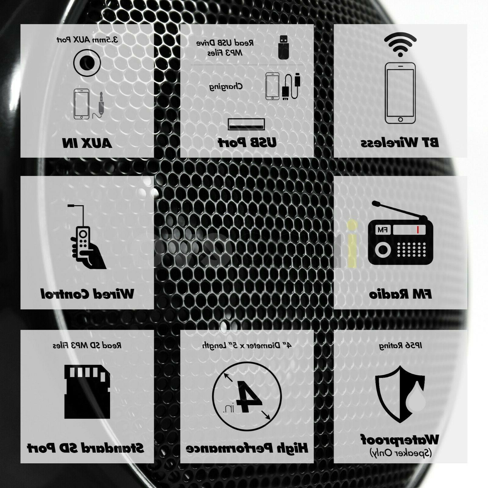 1000W ATV UTV RZR Polaris Stereo Speakers System