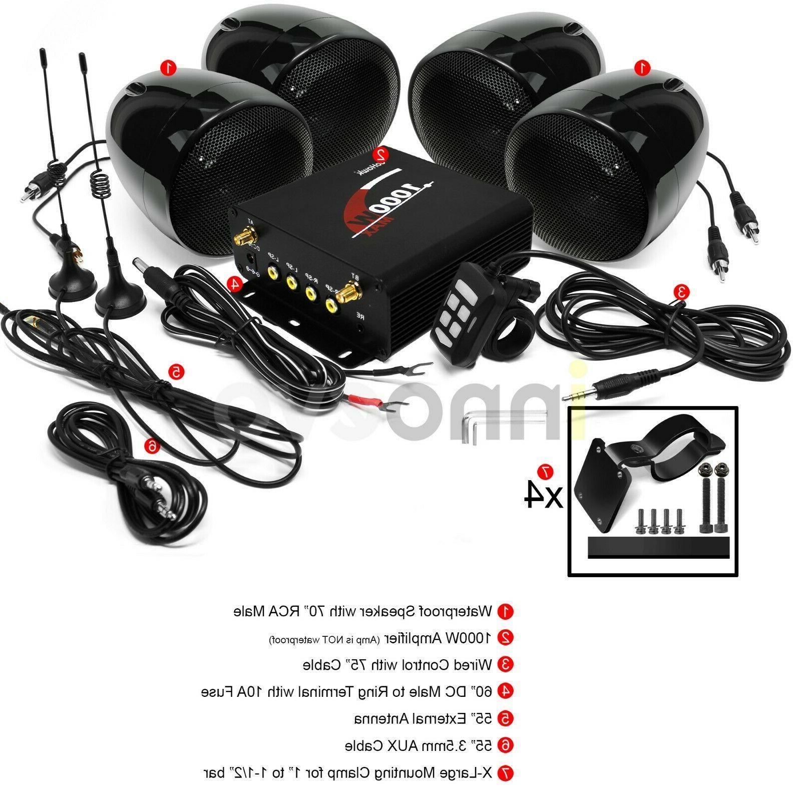 1000W ATV UTV Polaris Stereo Audio System