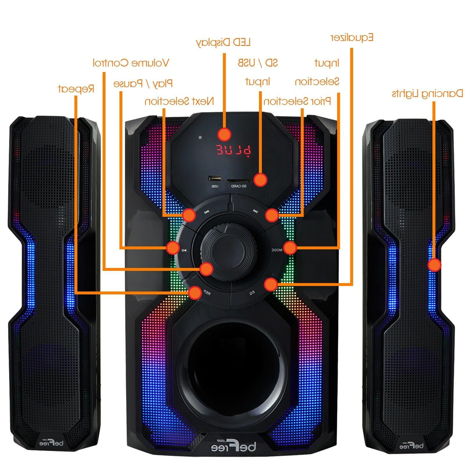 2.1CH SPEAKER STEREO MP3 PLAYER LIGHTS