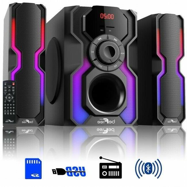 beFree Sound 2.1 Channel Bluetooth Multimedia Wired Speaker
