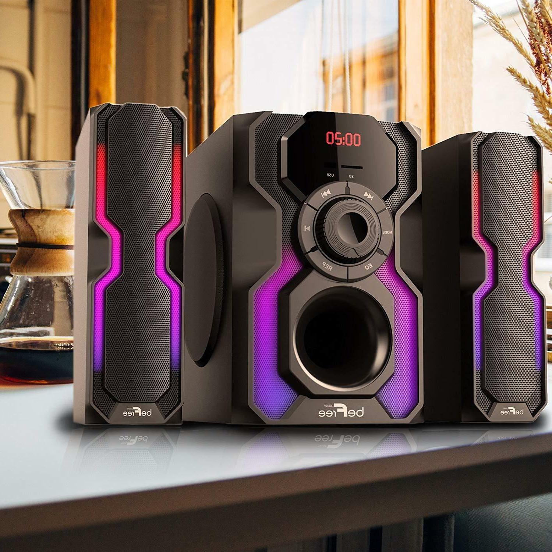 2 1 channel bluetooth speaker shelf stereo