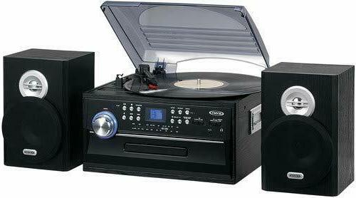 3 speed stereo record turntable music system
