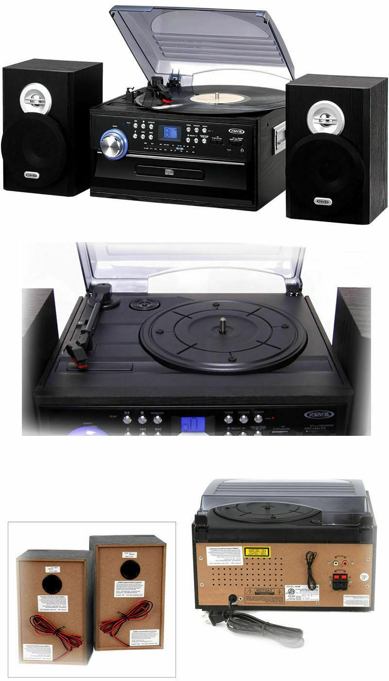 Jensen 3 Speed Turntable with Stereo Radio System