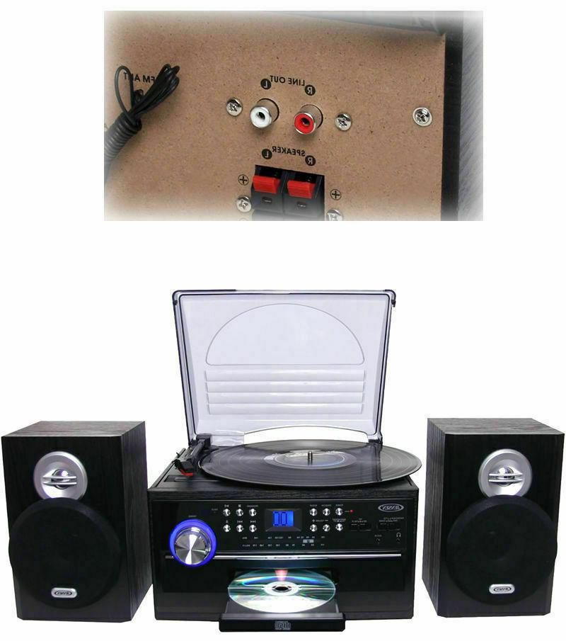 Jensen Speed Turntable Stereo Radio and CD System Cassette