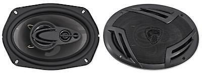 6x9 4 way car audio speakers pair