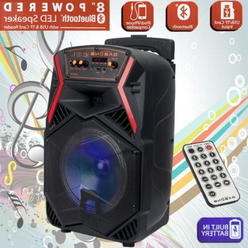 8 bt party speaker system bluetooth big