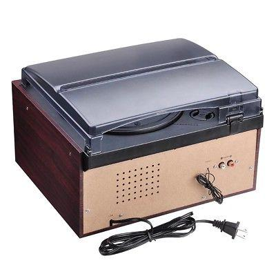 Wireless Stereo Record Player System Speakers AM/FM Cassette