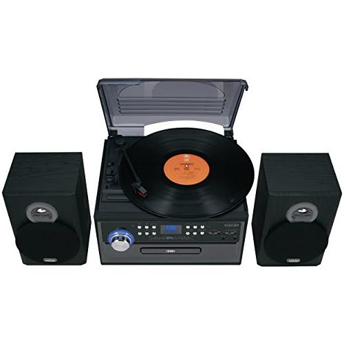 Jensen Retro 3-Speed Music Limited Edition with Player AM/FM Cassette Headphone